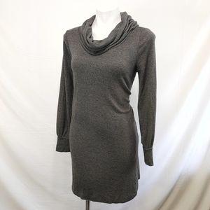 LOFT gray sweater dress cowl neck sz M